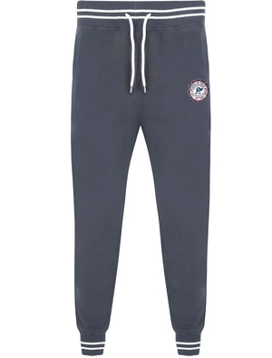 Nolasko Cuffed Joggers with Racer Stripe Detail In Blue Nights - Tokyo Laundry