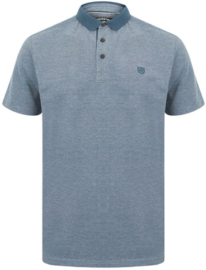 Norfolk Cotton Textured Jersey Polo Shirt in Ensign Blue – Kensington Eastside