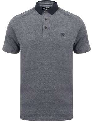Norfolk Cotton Textured Jersey Polo Shirt in Sky Captain Navy – Kensington Eastside