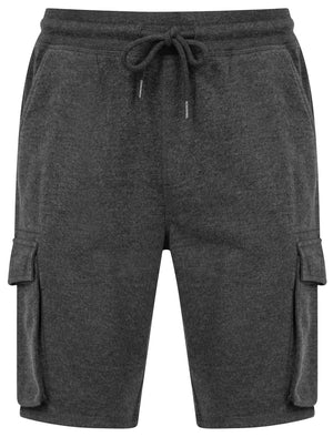 Ralph Multi-Pocket Cargo Jogger Shorts in Charcoal Marl - Tokyo Laundry