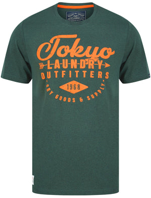 Robins Motif Cotton Jersey T-Shirt In Green Grindle – Tokyo Laundry