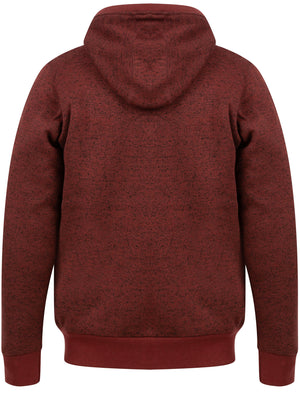 Saskatoon Chunky Zip Through Knitted Hoodie With Borg Lining In Port – Tokyo Laundry