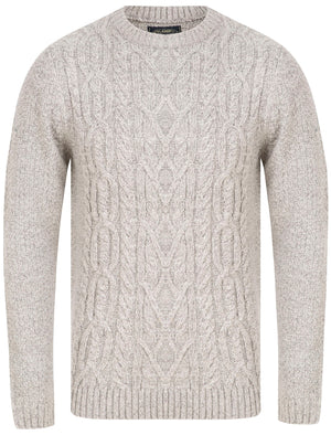Scotby Chunky Cable Knitted Jumper in Light Grey Twist - Tokyo Laundry