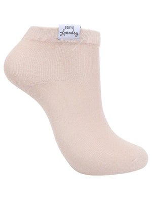 Sparklet (2 Pack) Metallic Glitter Ankle Socks in Mint Green / Rose Gold – Tokyo Laundry