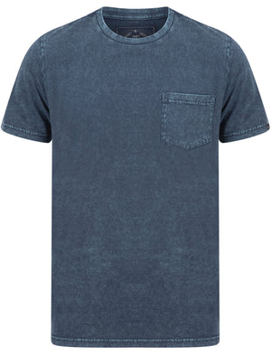 Tannan Acid Wash Cotton Jersey T-Shirt with Chest Pocket In Navy Blazer – Tokyo Laundry