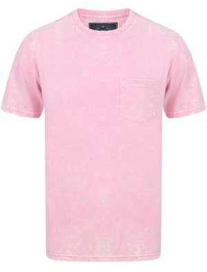 Tannan Acid Wash Cotton Jersey T-Shirt with Chest Pocket In Sachet Pink – Tokyo Laundry