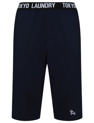 Wearside Cotton Jersey Lounge Shorts In Sky Captain Navy - Tokyo Laundry