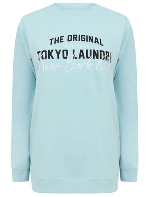 Algadia Loopback Fleece Cotton Blend Sweatshirt in Aquamarine - Tokyo Laundry