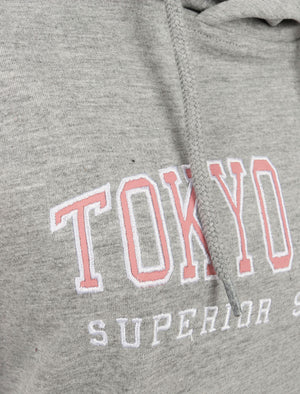 Arta Loopback Fleece Pullover Hoodie in Light Grey Marl - Tokyo Laundry