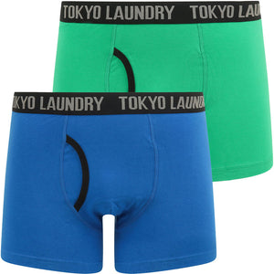Athelstan (2 Pack) Boxer Shorts Set in Bright Green / Jet Blue – Tokyo Laundry