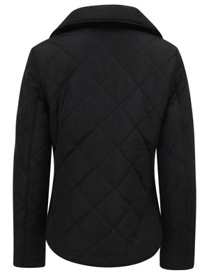 Braintree Funnel Neck Diamond Quilted Puffer Jacket In Black – Tokyo Laundry
