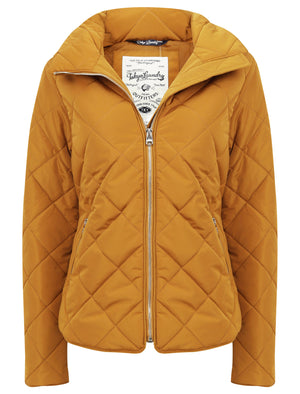 Braintree Funnel Neck Diamond Quilted Puffer Jacket In Mustard – Tokyo Laundry