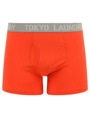 Bromley (2 Pack) Boxer Shorts Set in High Risk Red / Navy Blazer - Tokyo Laundry