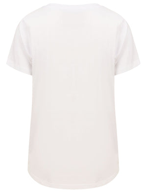 Cala Motif Cotton T-Shirt with Gold Foil Detail in Bright White – Tokyo Laundry