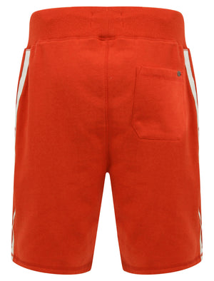 Cali Beach Applique Jogger Shorts in High Risk Red - Tokyo Laundry