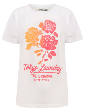 Calvia Ombre Motif Cotton Jersey T-Shirt in Bright White – Tokyo Laundry