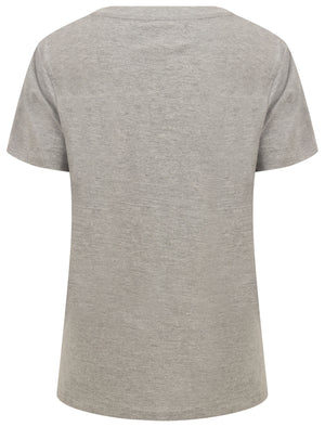Calvia Ombre Motif Cotton Jersey T-Shirt in Light Grey Marl – Tokyo Laundry