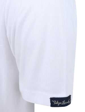 Candyshop Ombre Motif Cotton Jersey T-Shirt In Bright White - Tokyo Laundry