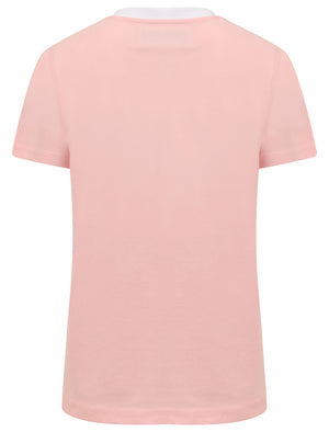 Deia Palm Motif Cotton Jersey Ringer T-Shirt In Rose Shadow – Tokyo Laundry