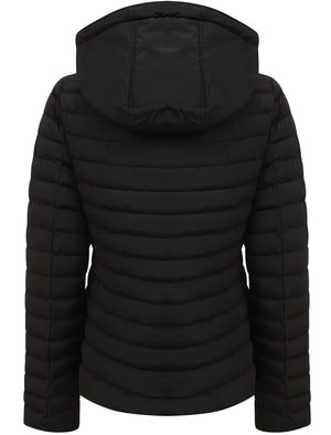 Ginger Quilted Hooded Puffer Jacket in Black – Tokyo Laundry