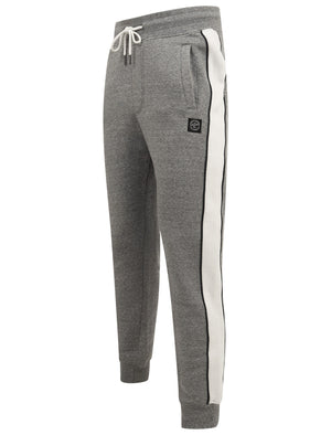 Greenwood Cuffed Joggers with Side Tape Detail In Light Grey Marl - Tokyo Laundry