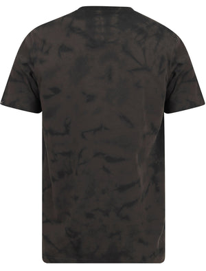 Track & Field Motif Tie Dye Cotton Jersey T-Shirt In Pirate Black - Tokyo Laundry