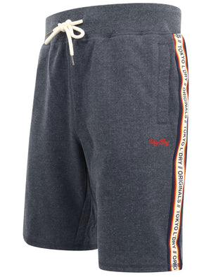 Malibu Surf Jogger Shorts with Tape Detail In Mood Indigo Marl – Tokyo Laundry