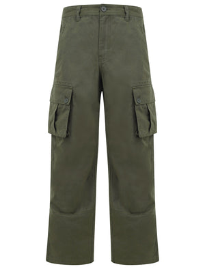Marshland Cotton Twill Cargo Trousers In Grape Leaf - Tokyo Laundry
