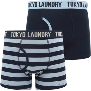 Nicholson (2 Pack) Striped Boxer Shorts Set in Blue Fog / Sky Captain Navy – Tokyo Laundry