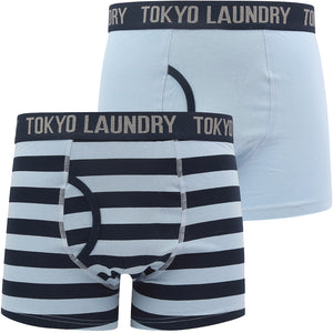 Northiam (2 Pack) Striped Boxer Shorts Set in Blue Fog / Sky Captain Navy – Tokyo Laundry