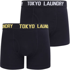 Oceana 2 (2 Pack) Boxer Shorts Set in Maize Yellow / Light Grey Marl – Tokyo Laundry