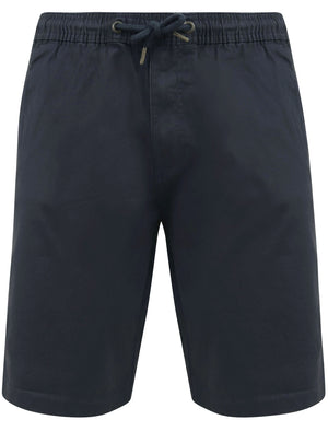 Orzola Cotton Shorts with Elasticated Waist In Blue Nights - Tokyo Laundry