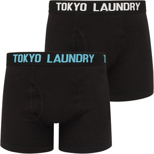 Parkfields (2 Pack) Boxer Shorts Set in Bright White / Blue Moon – Tokyo Laundry