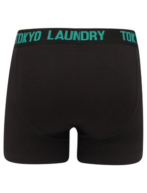 Parkfields (2 Pack) Boxer Shorts Set in Emberglow Orange / River Green – Tokyo Laundry