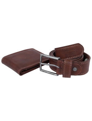 Redhook Faux Leather Belt and Wallet Gift Set in Tan - Tokyo Laundry