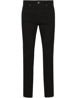 Rowley Slim Fit Denim Jeans in Black Denim - Tokyo Laundry