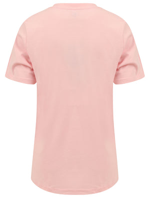 Soller Palm Motif Cotton Jersey T-Shirt in Rose Shadow – Tokyo Laundry