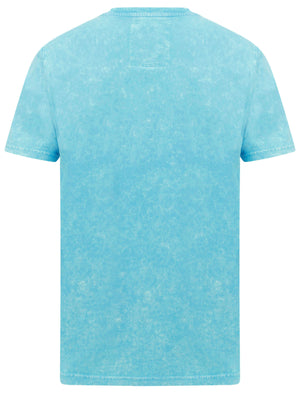 Springfield Motif Acid Wash Cotton Jersey T-Shirt In Blue – Tokyo Laundry