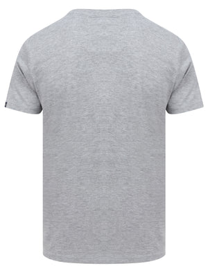 Travis Applique Motif Cotton Jersey T-Shirt in Light Grey Marl - Tokyo Laundry