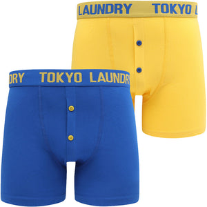 Wetherby 2 (2 Pack) Boxer Shorts Set In Nautical Blue / Maize Yellow – Tokyo Laundry