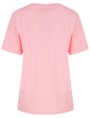 Love Wins Motif Cotton Jersey T-Shirt in Candy Pink - Weekend Vibes