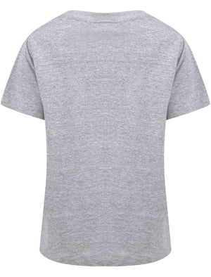 Choose Kindness Motif Cotton Crew Neck T-Shirt in Light Grey Marl – Weekend Vibes