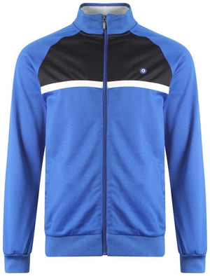 Alloway zip through jacket in Vespa Blue - Le Shark