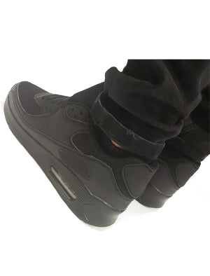 Jordan Fashion Running Trainers with Bubble Detail in Black