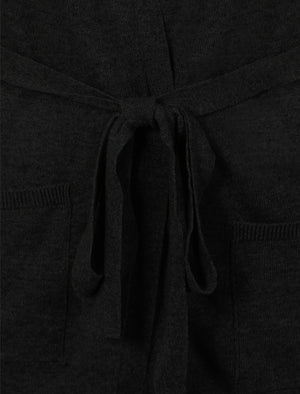 Amara Reya Coati black long belted cardigan