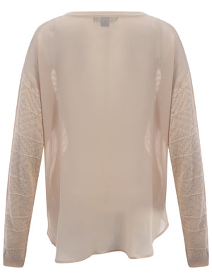 Amara Reya Cleo nude sheer back jumper