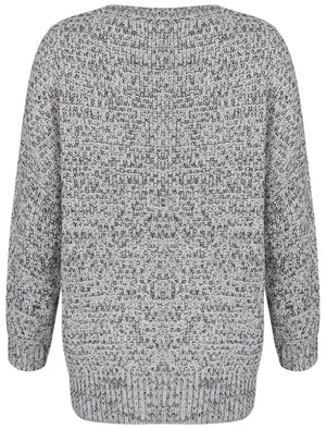 Womens Amara Reya Lemon Blossom Grey Crew Neck Jumper