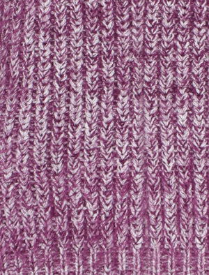 Womens Amara Reya Snowdrop Jumper in Dark Purple Ivory