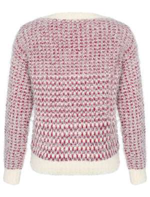 Womens Amara Reya Sunflower Crew Neck Jumper in Damson