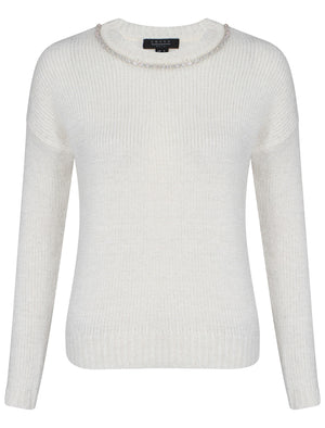 Womens Amara Reya Teasel Crew Neck Jumper in Ivory